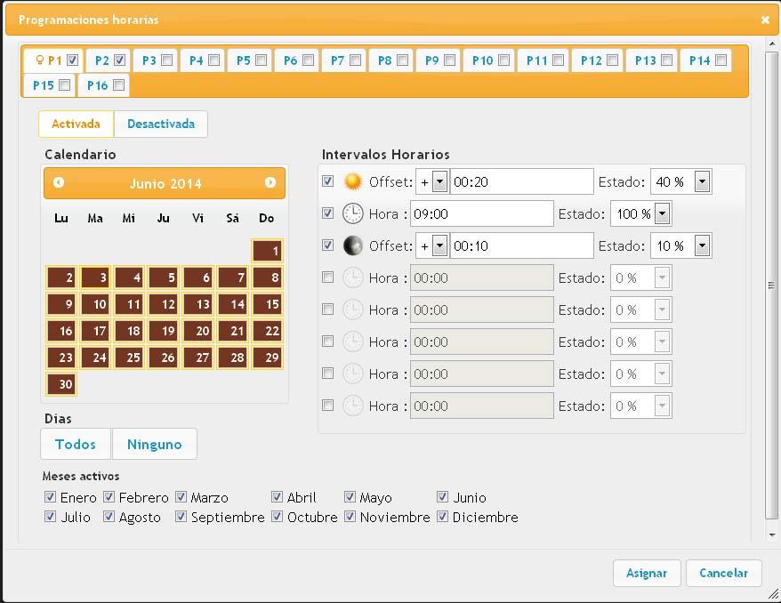 telegestion neolux horario programado
